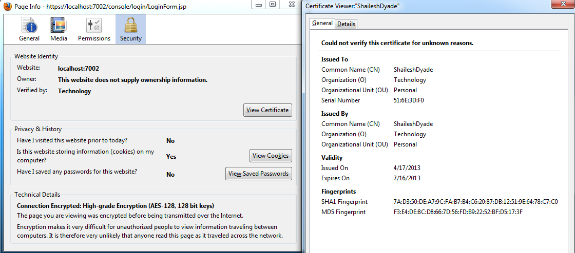 Middleware Technologies Arena Setting Up Two Way Ssl For Weblogic