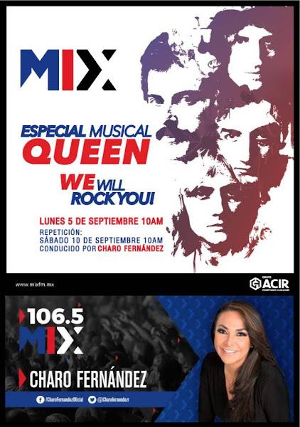 5 Sept. Especial #QueenEnMix www.mixfm.mx 10 am en el cumpleaños 70 de Freddie Mercury