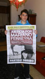 PATRICIO GONZÁLEZ, ESTUDIANTE SECUNDARIO Y MILITANTE DE UJS TAMBIÉN PIDE JUSTICIA X MARIANO