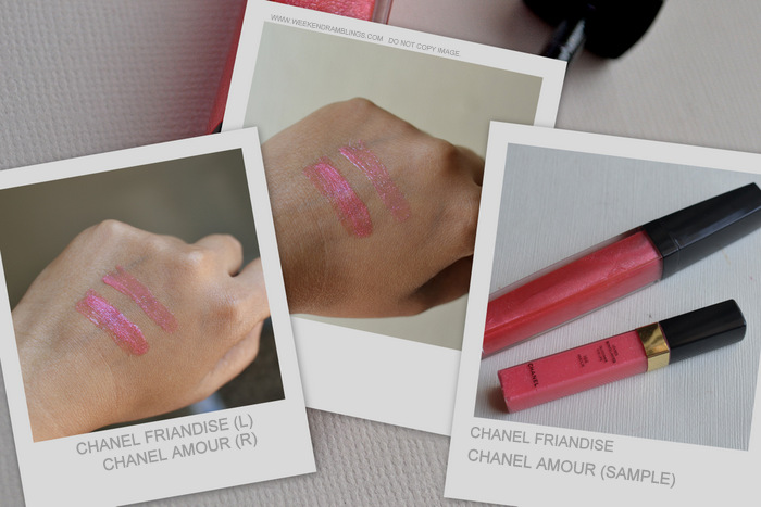 Chanel Friandise Aqualumiere Gloss Delices Makeup Collection Photos Swatches FOTD Review Indian Darker Skin Beauty Blog Amour Comparison