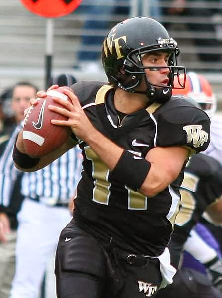 Riley Skinner in his Wake Forest uniform   Wake forest