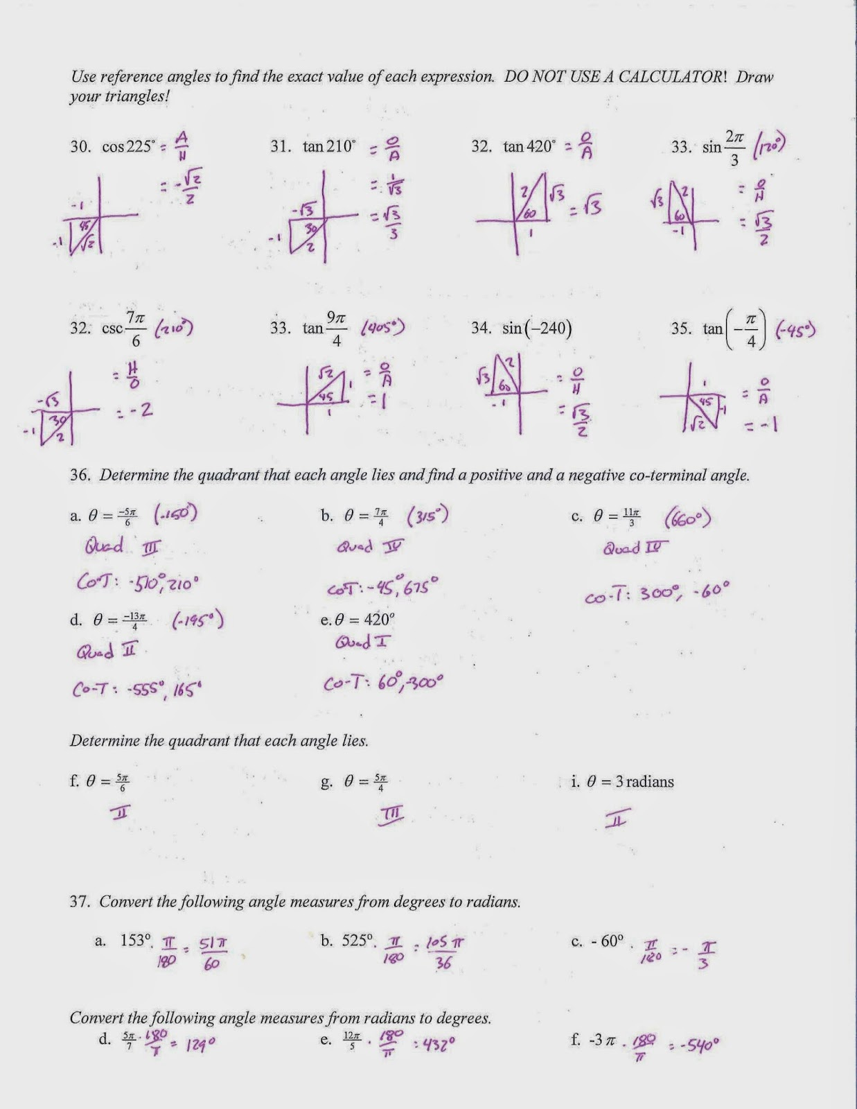 mr doran s algebra trig test review the following assignment covers the trig topics for the upcoming test