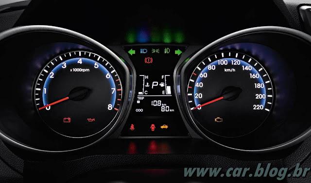 Hyundai HB 20 - painel de instrumentos