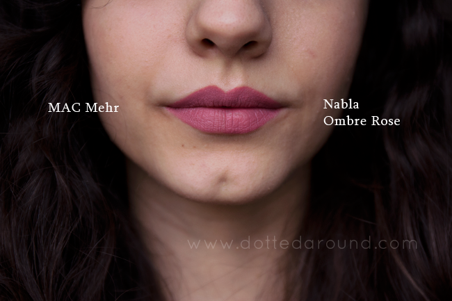 Nabla ombre rose swatch rossetto mehr mac