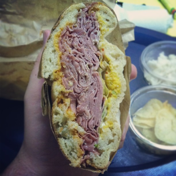 corned beef deli sandwich