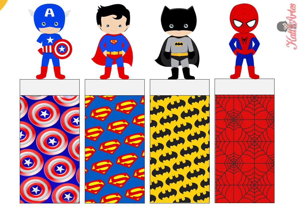 Bright image within super hero printable