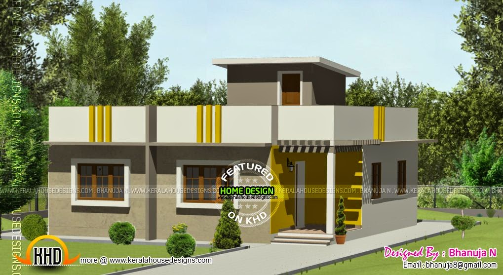 Small budget house plan kerala home design siddu buzz for Indian small house design 2 bedroom