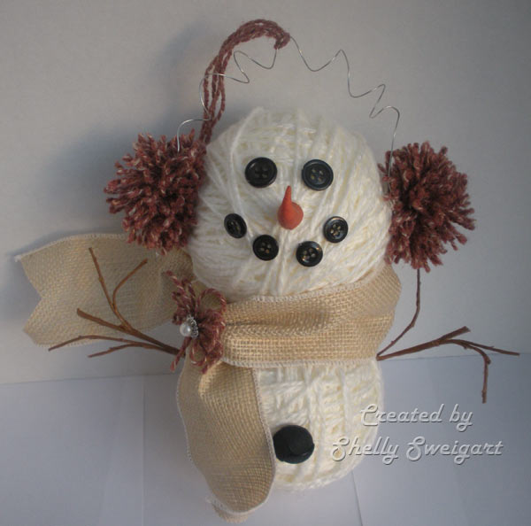 how to make a snowman from yarn and balloon