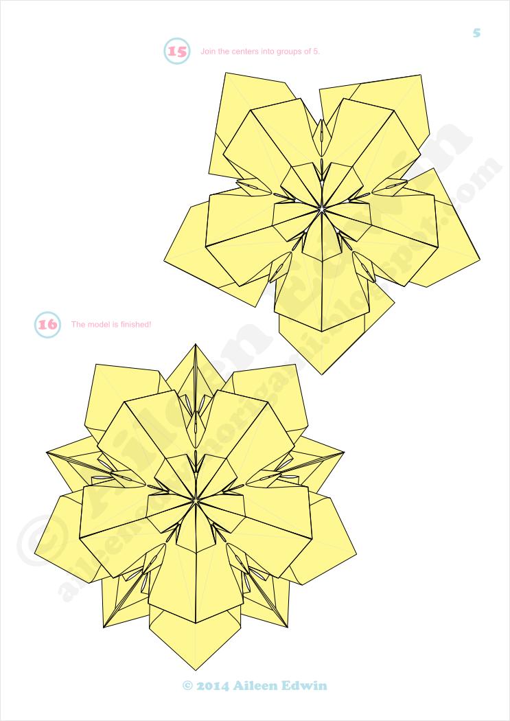 Origami Kusudama Diagrams (Aileen Edwin)