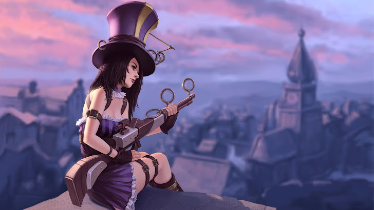 caitlyn league of legends game lol girl champion.