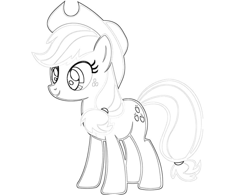 #13 My Little Pony Applejack Coloring Page