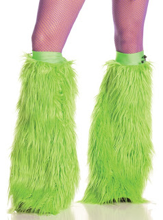 Lime Furry Boot Covers
