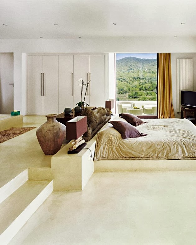 Bedroom in Ibiza dream home by Jaime Serra