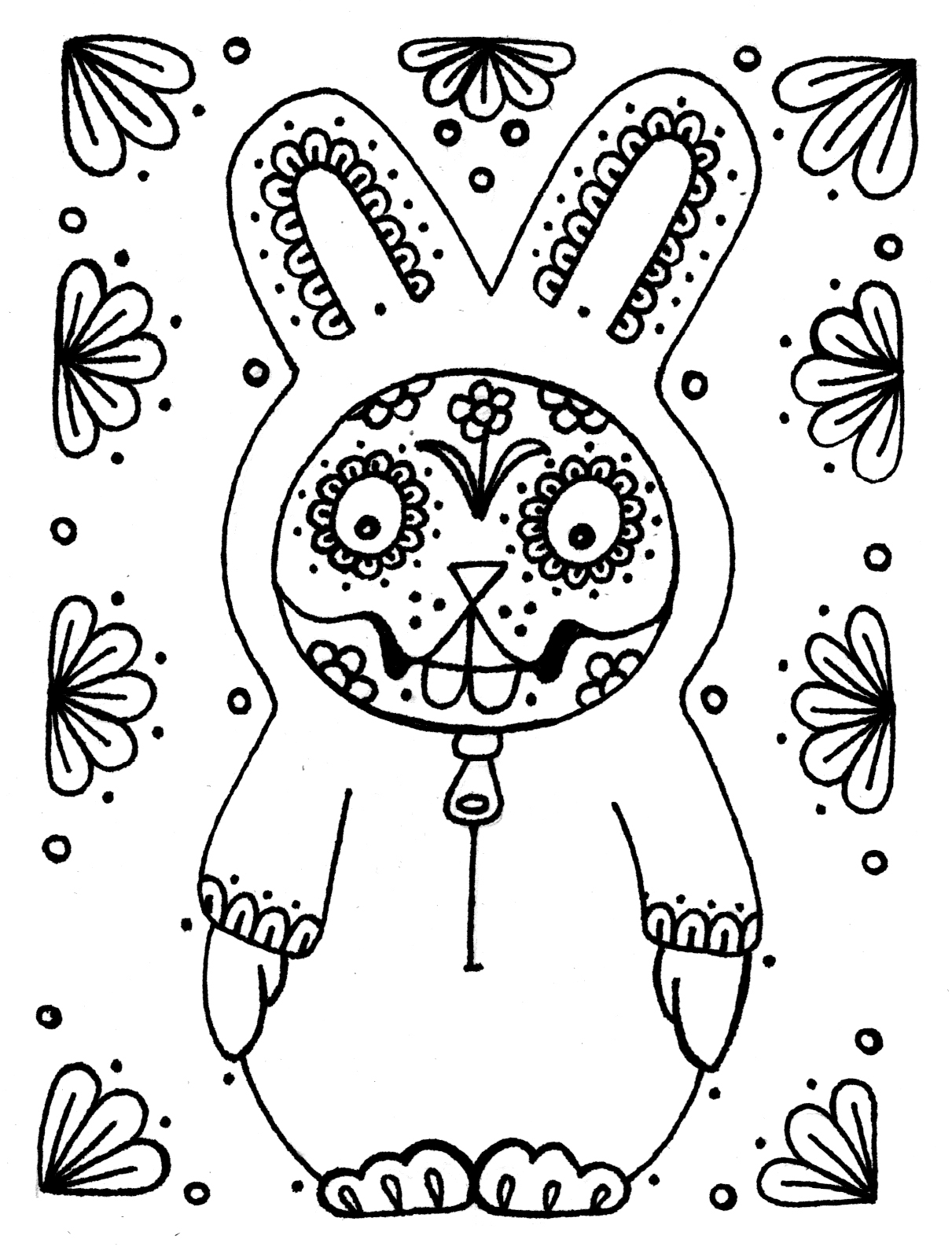 Yucca Flats N M April 2012 Dia De Los Muertos Coloring Pages