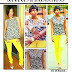 Rihanna's Lemon Skinny Jeans and Dalmation Print top