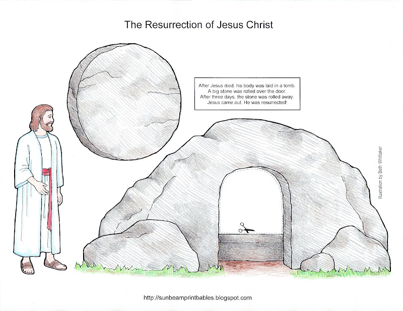 PDF craft page here: The Resurrection of Jesus Christ Easter Craft title=