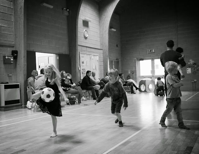 girl-playing-football, kids-birthday-party, party-hall