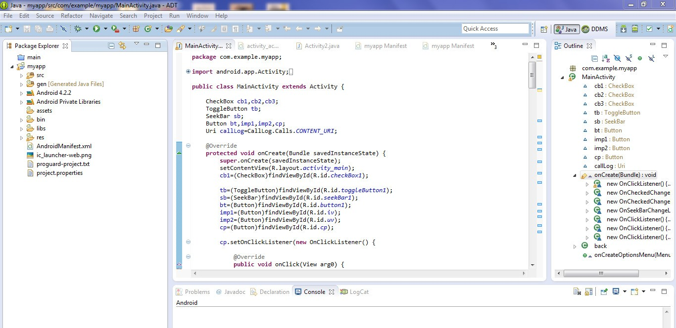 Eclipse Android IDE with ADT Plugin