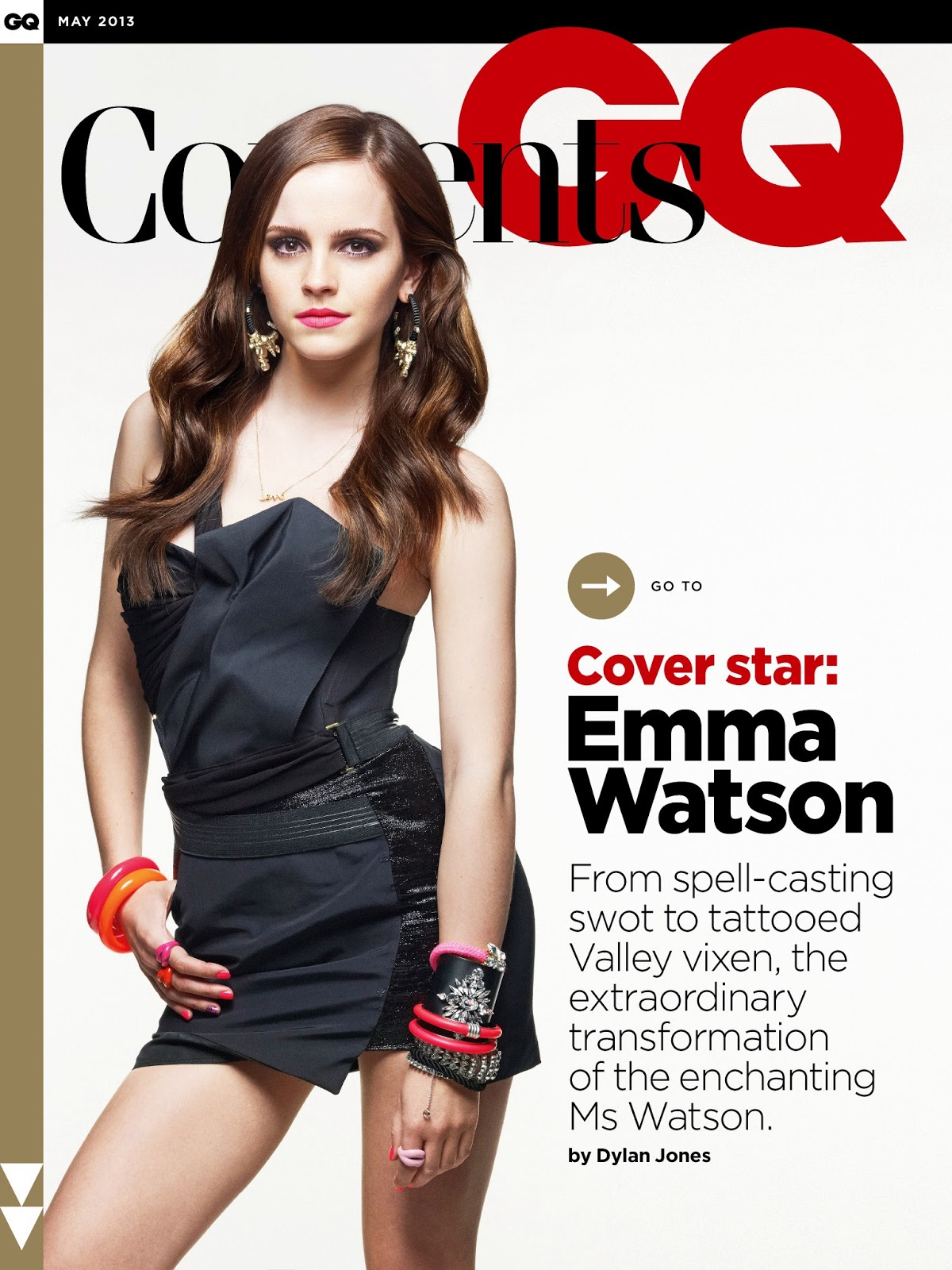 Emma Watson GQ UK Oct 2013 Magazine Hot Photoshoot Stills