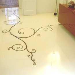 pavimentazioni in resina trasparente