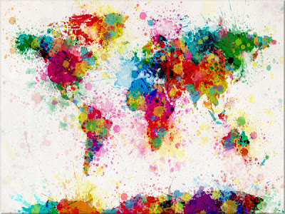 map of the world map canvas art