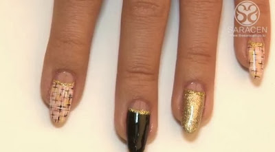 Tweed nail art