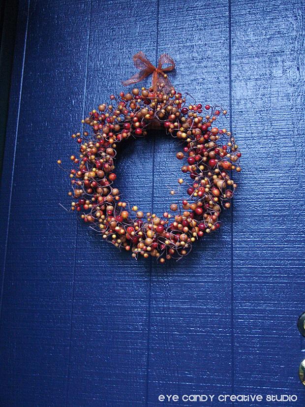 adding a wreath to front door, front door decor, front door makeover