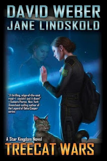 "Cover art: ""Treecat Wars"" by David Weber and Jane Kindskold"