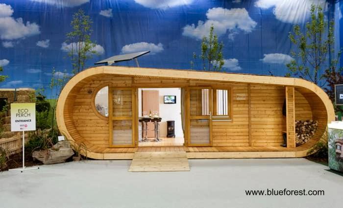 Casa de madera compacta diseño sustentable
