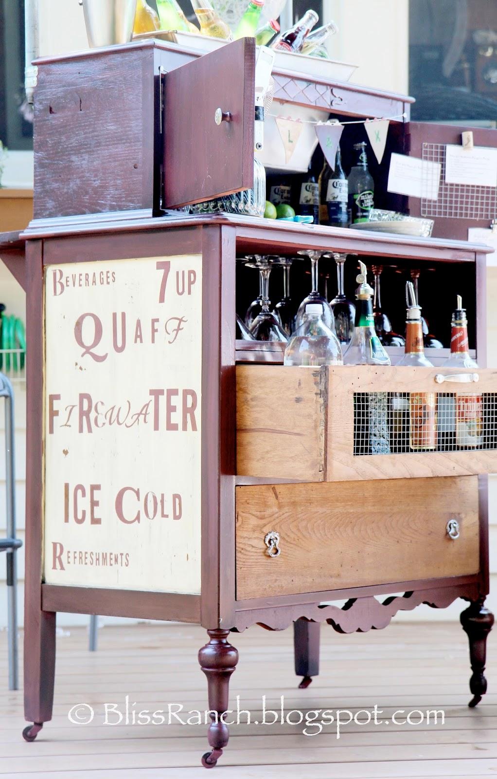Bliss Ranch Vintage dresser Bar