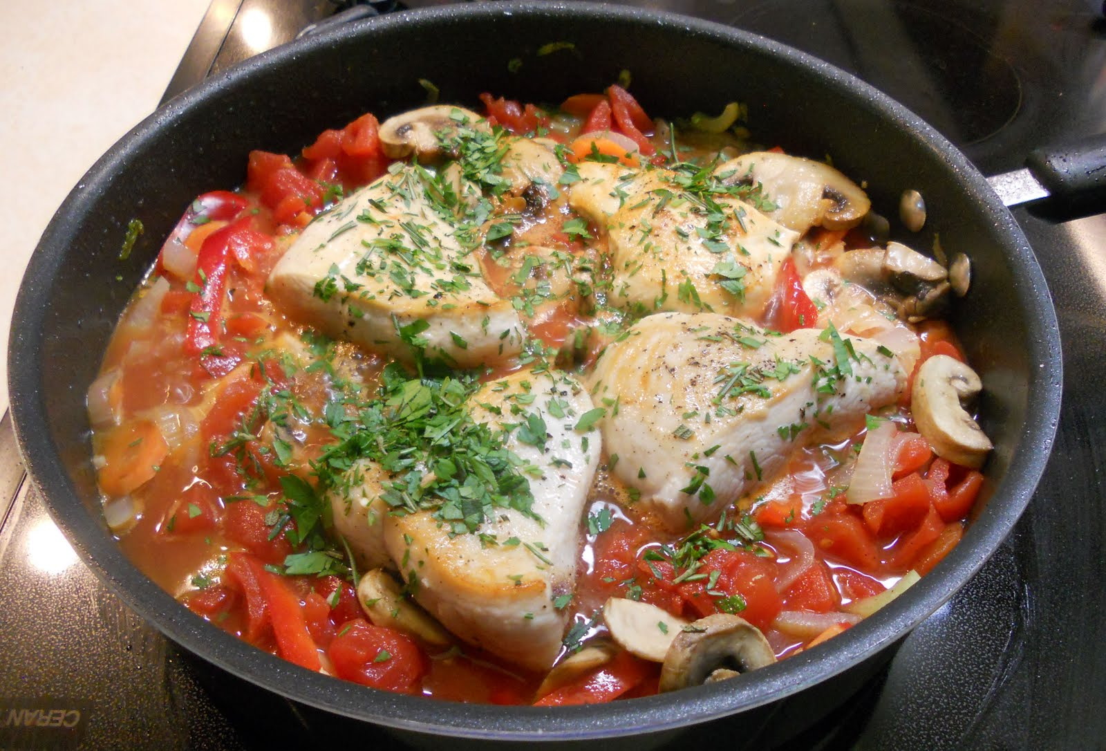 Easy Chicken Cacciatore - Just One Donna!
