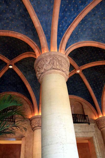 Opulent pillars at the Biltmore Hotel