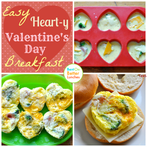 Heart-y Valentines Day Breakfast Mini Omelets