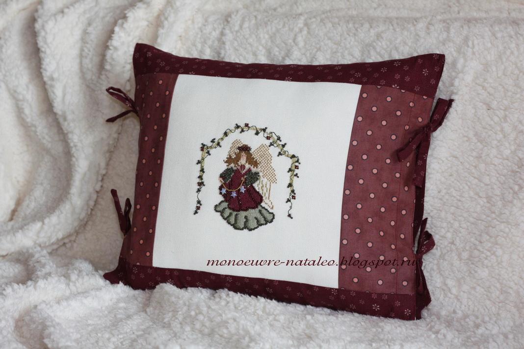 Подушки с ангелами вышивка
