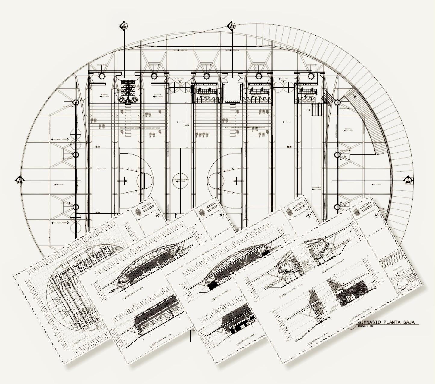 Proyecto arquitect nico de unidad deportiva y sal n de for Salon de usos multiples programa arquitectonico