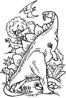 Desenhos Para Colorir a era dos dinossauros
