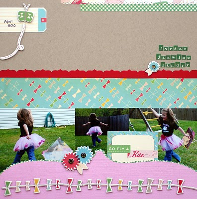 Fly A Kite_Scrapbook Page_Girly_Pink_Cosmo Cricket