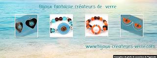 Bijoux fantaisie de création en verre, bijouterie fantaisie haut de gamme Amarre de bijoux