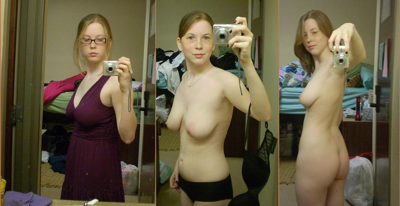 Peito feminino nu de pequeno a grande