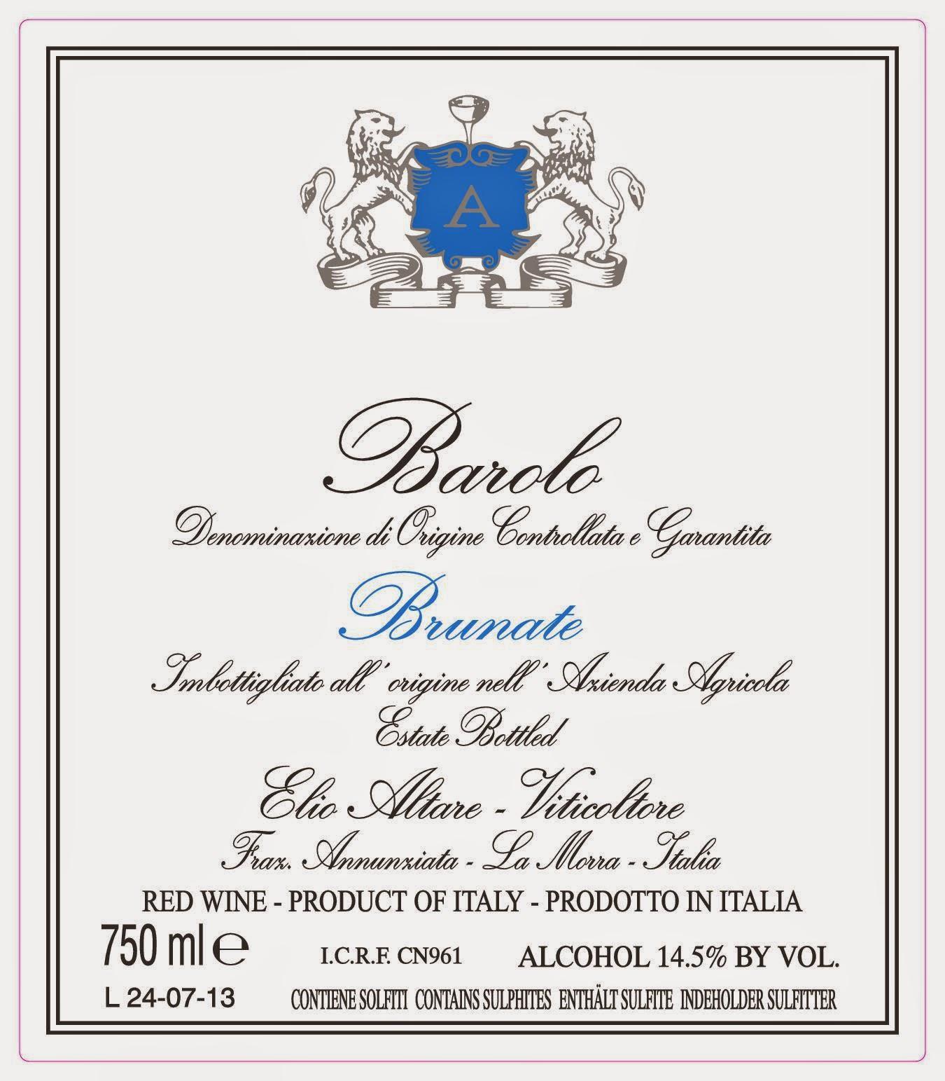 etichette branding barolo labels