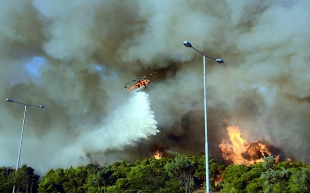 Εμπρησμός πίσω από τη φωτιά στις Αφίδνες;