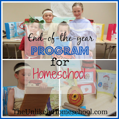 End of the Year Program for Homeschool- How our co-op recognizes the year-long accomplishments of the kids {The Unlikely Homeschool}