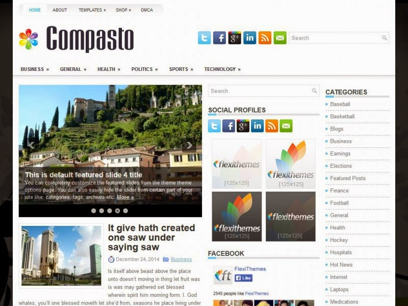 Compasto - Free Wordpress Theme