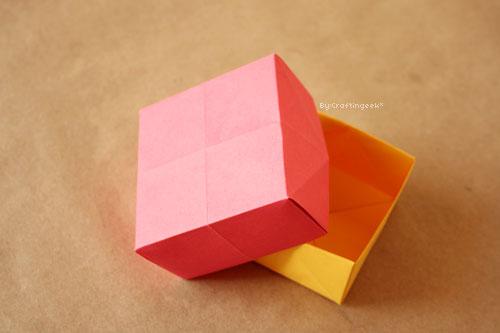 Como se hace una caja de papel imagui - Como hacer una cajita con cartulina ...