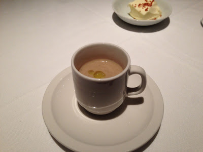 Wild mushroom bisque at Farallon restaurant in San Francisco