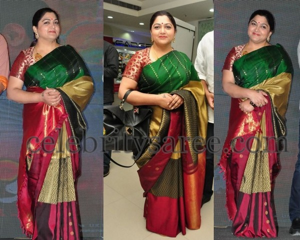 Kushboo Multi Color Silk Saree