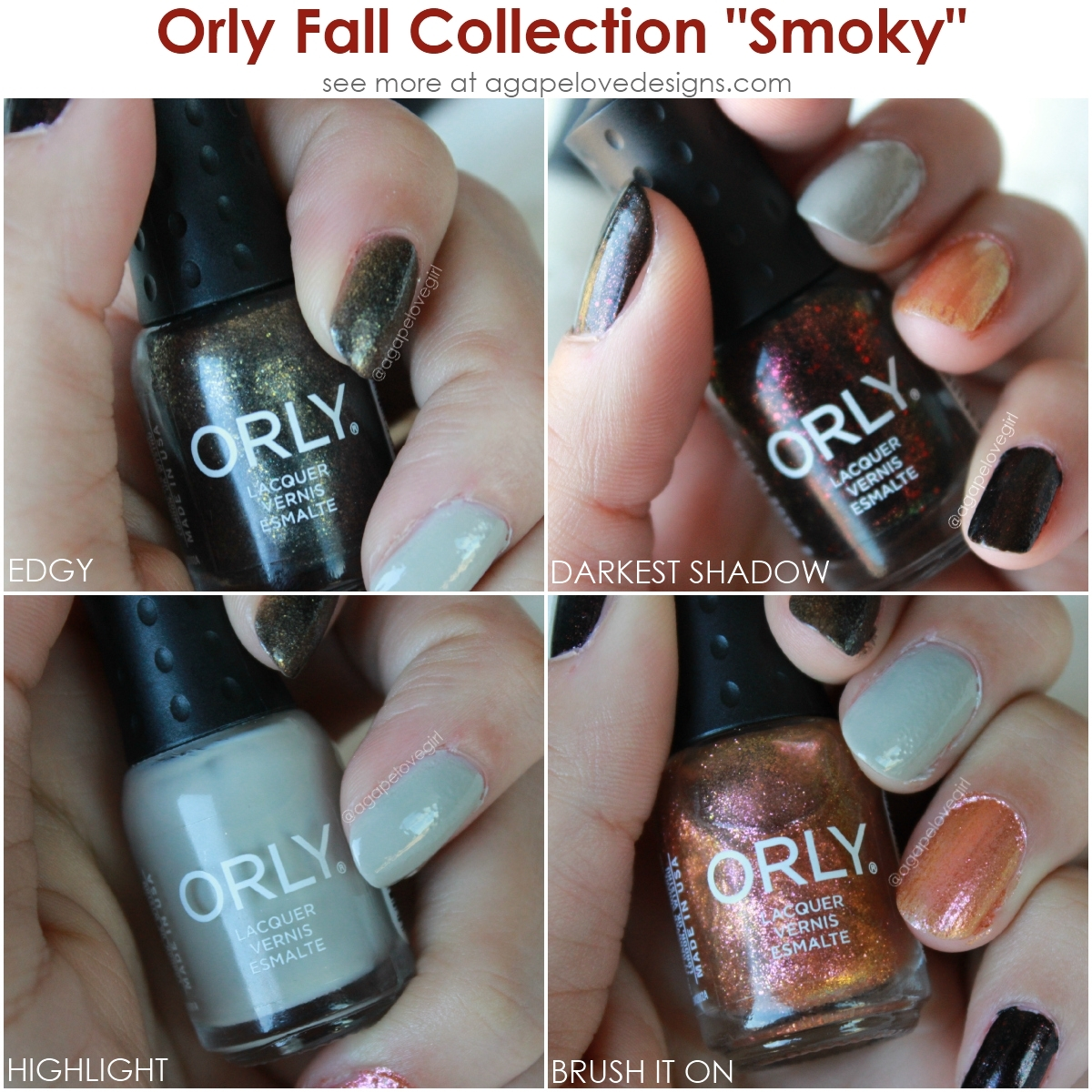 """Agape Love Designs: FabPolish Ft. Orly Fall Collection """"Smoky"""""""