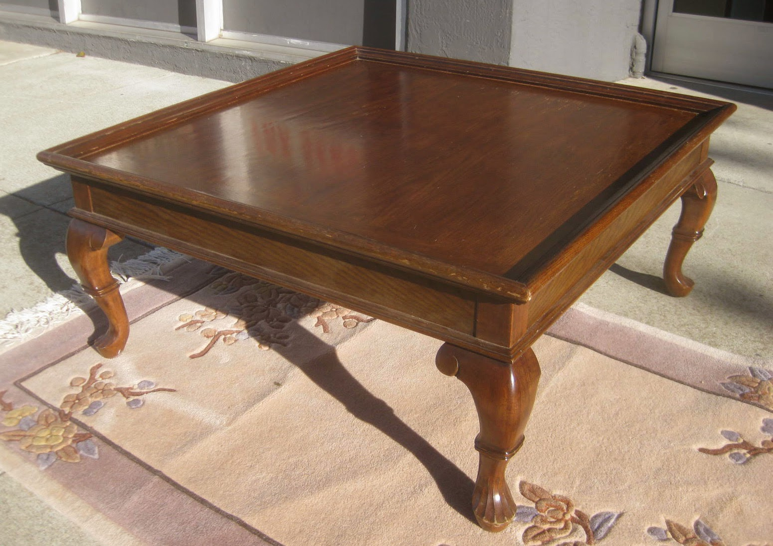 Uhuru Furniture Collectibles Sold Large Square Coffee Table 40