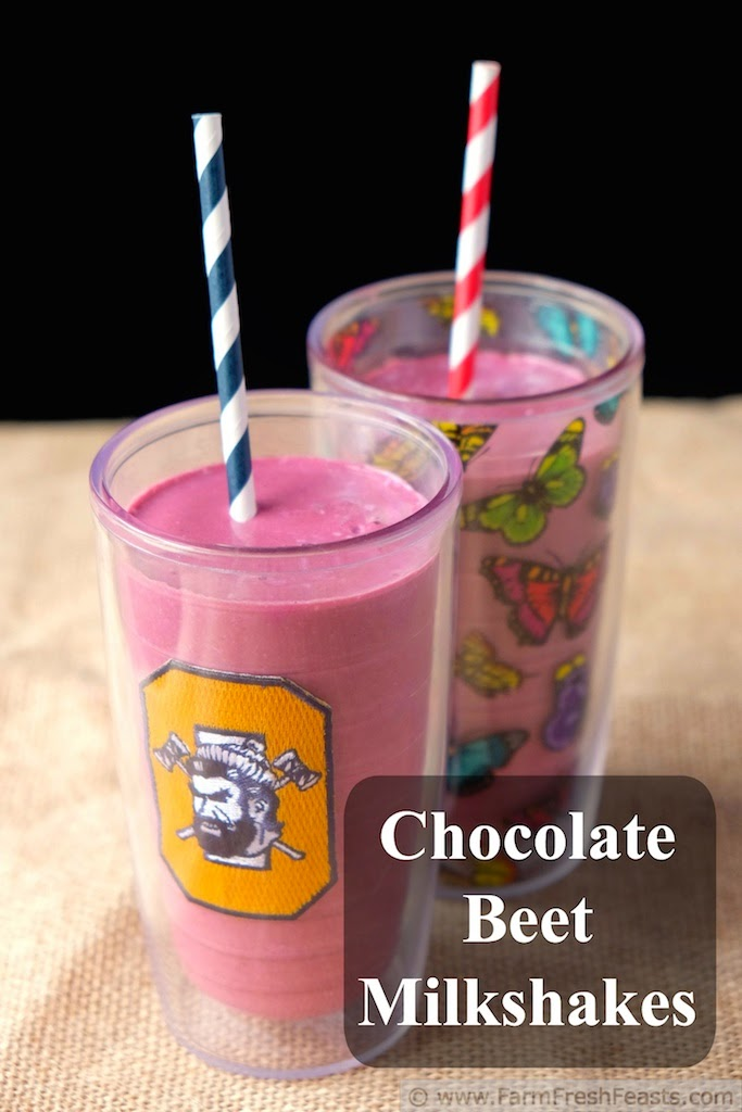 Chocolate Beet Milkshake from Farm Fresh Feasts