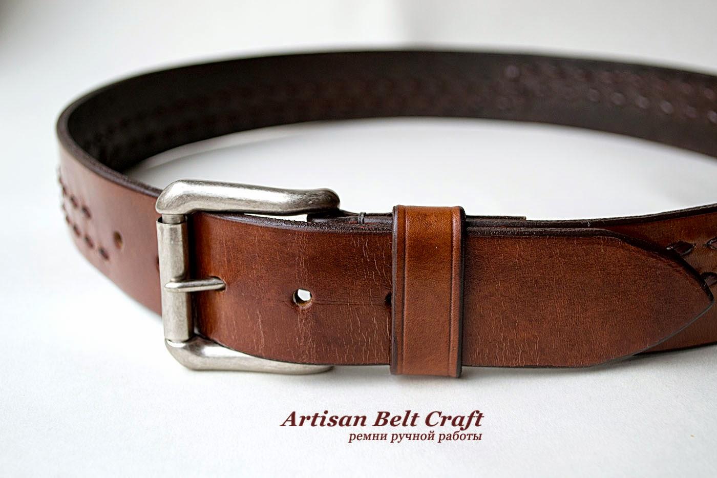 кожаный ремень табачно-коричневого цвета